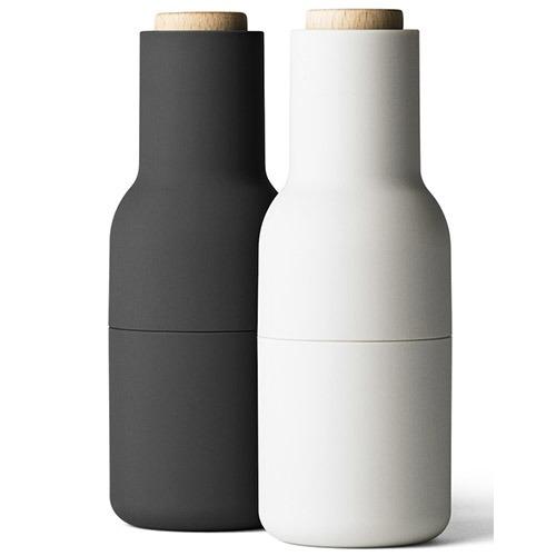 メニュー ボトルグラインダー アッシュ&カーボンセット ウッドトップ(1セット)の写真