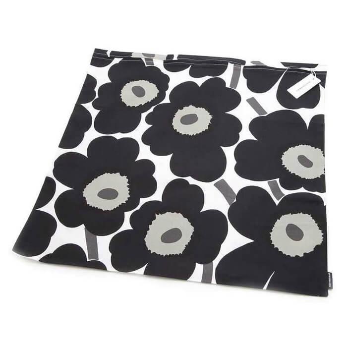 marimekko ピエニウニッコ クッションカバー 50x50cm ブラック×ホワイト 064163 030 Pieni Unikko cushion cover