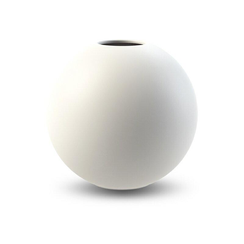 Cooee Design ボールフラワーベース 20cm ホワイト