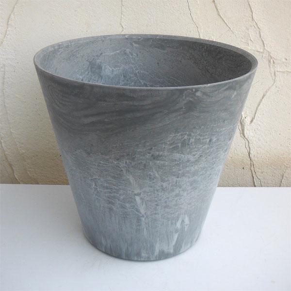 アートストーン ラウンド   グレー /底面給水型植木鉢 底栓付の写真