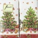 ペーパータオル【ハンキー】2個ノスタルジック クリスマスツリー【Ambiente】ペーパーナフキン・紙ナプキン画像