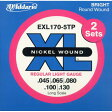 D'Addario XL Nickel Round Wound EXL170-5TP