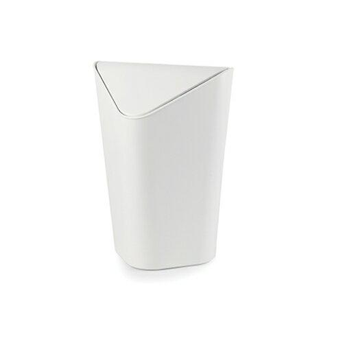 umbra スイングフタ付角型ゴミ箱 CORNER CANコーナーカン M メタリックホワイト 5L 2086905-661