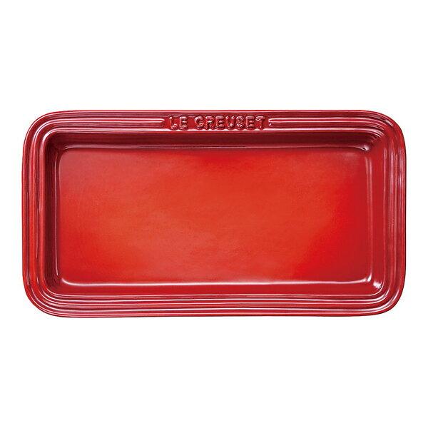 ルクルーゼ  角皿 レクタンギュラー プレート LC チェリーレッド 910037-00-06