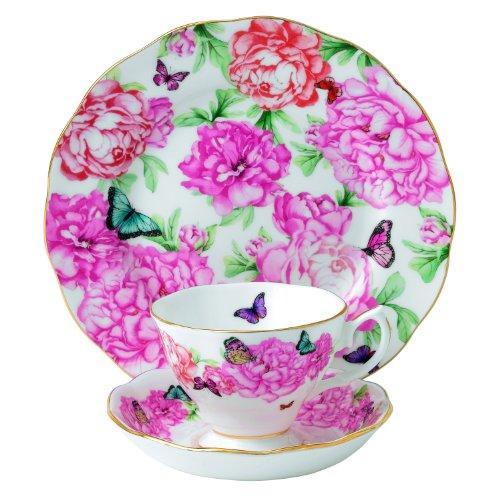 Royal Albert Gratitude 3-Piece Teacup Saucer and Plate   Designed by Miranda Kerrの写真
