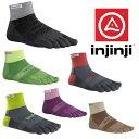 インジンジ 靴下 IJJ213130 トレイルミッドウェイトミニクルー メンズ画像