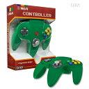グリーン nintendo64コントローラー ゲームコントローラー N64 Cirka Controller
