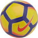 ナイキ ピッチ サッカーボール 4号球 カラー:ハイビズイエロー×ピュア #SC3136-711画像