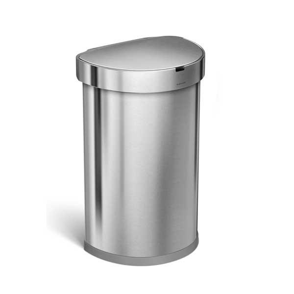 シンプルヒューマン st2009 セミラウンド センサーカン シルバー   ゴミ箱 simplehumanの写真
